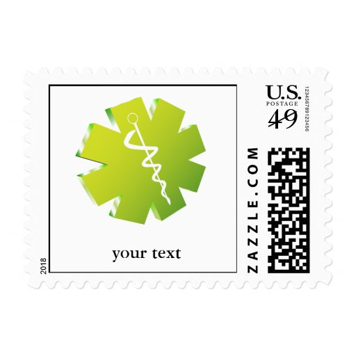 green caduceus medical gifts postage