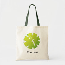 green caduceus medical gifts tote bag