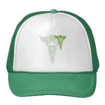 green caduceus medical gifts trucker hat