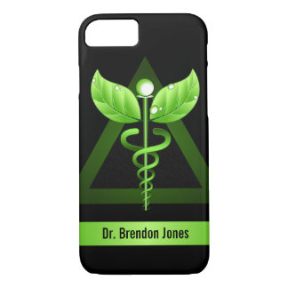 Green Caduceus Natural Therapy Holistic Health iPhone 8/7 Case