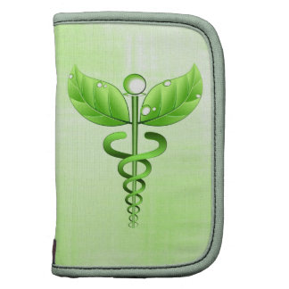 Green Caduceus Symbol Small Folio Planner Planner