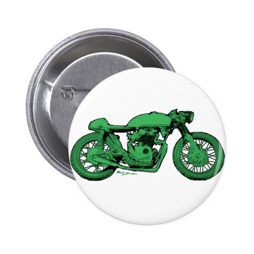 Green Cafe Racer Vintage Motorcycle Buttons