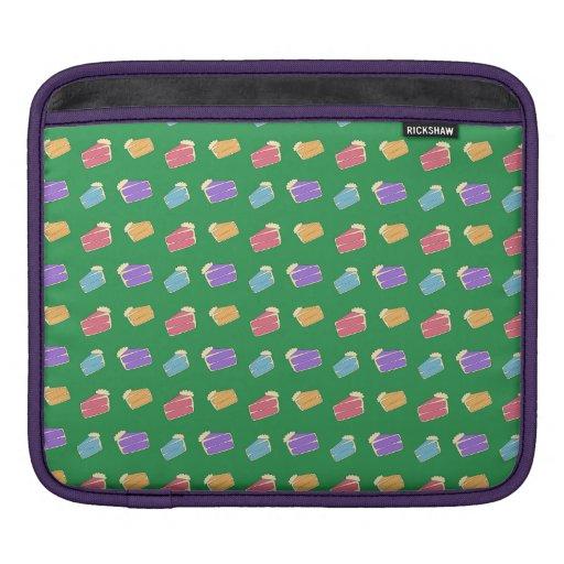 Green cake pattern iPad sleeves