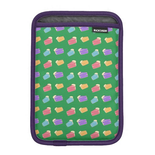 Green cake pattern iPad mini sleeve