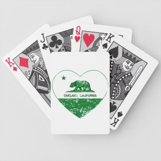 green california flag oakland heart bicycle playing cards