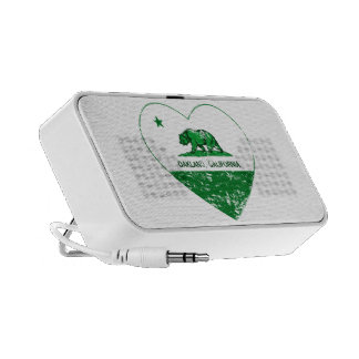 green california flag oakland heart portable speakers