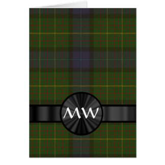 Green California state tartan plaid Card