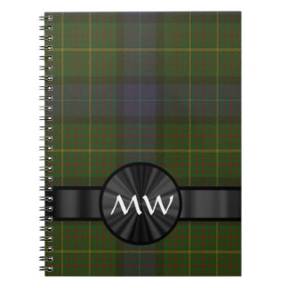 Green California state tartan plaid Notebook