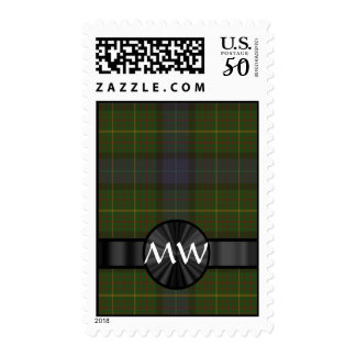 Green California state tartan plaid Postage