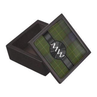 Green California state tartan plaid Premium Trinket Boxes