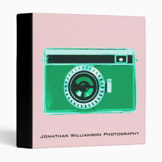 Green Camera Photography Business Binder