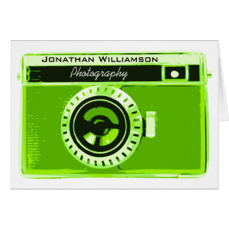 Green Camera Photography Business Card