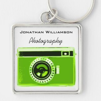 Green Camera Photography Business Keychain