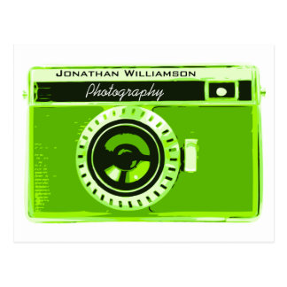 Green Camera Photography Business Postcard
