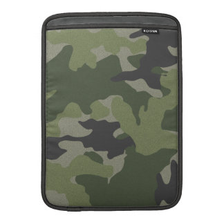 Green Camo 13 Inch Macbook Air Sleeve Vertical