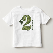 Green Camo 2nd Birthday Toddler T-shirt
