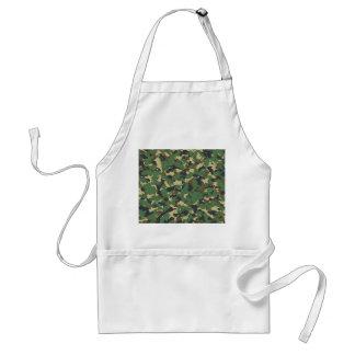 Green camo adult apron