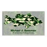 Green Camo Bass Fishing Business Cards