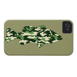 Green Camo Bass Fishing Case-Mate iPhone 4 Case