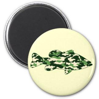 Green Camo Bass Fishing Magnet