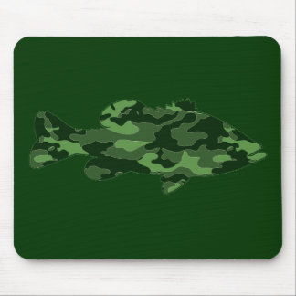 Green Camo Bass Fishing Mouse Pad