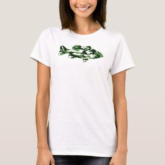 Green Camo Bass Fishing T-Shirt