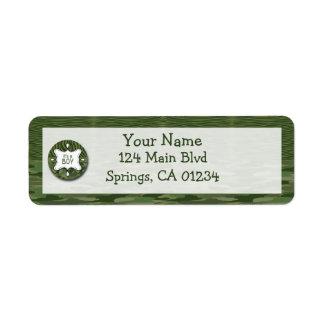 Green Camo Boy Baby Shower Address Labels