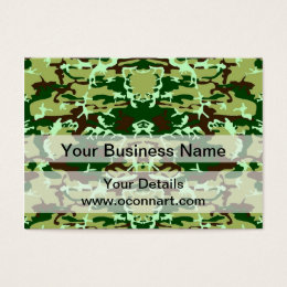 Camo design business cards templates zazzle green camo business card colourmoves