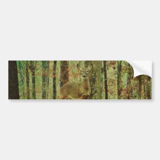 Green Camo,Camouflage Deer Bumper Sticker