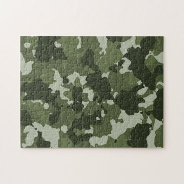 Green Camo Camouflage Military Jigsaw Puzzle