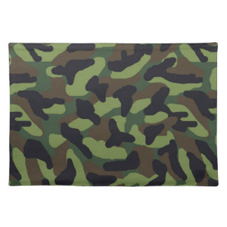 Green Camo Camouflage Placemat