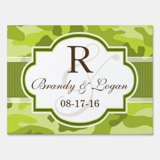 Green Camo, Camouflage Wedding Sign