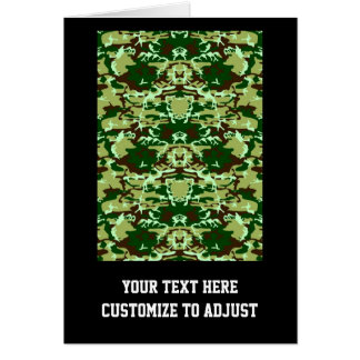 Green camo stationery note card