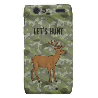 Green Camo Deer Antlers Hunting Hunter Designer Droid RAZR Cases