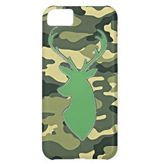 Green camo deer head iPhone 5c covers
