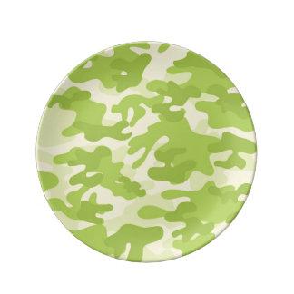 Green Camo Design Dinner Plate