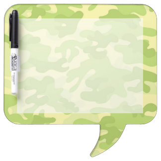 Green Camo Design Dry-Erase Board