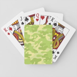 Green Camo Design Playing Cards