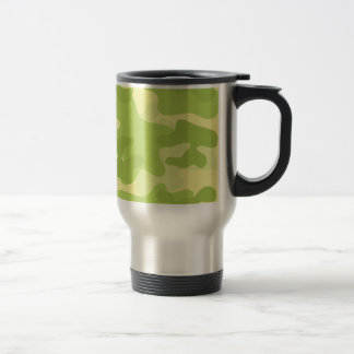 Green Camo Design Travel Mug