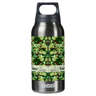 Green camo insulated water bottle