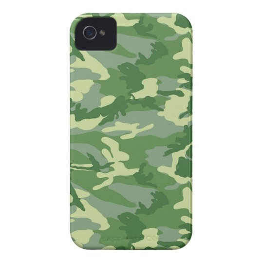 Green Camo iPhone 4 Cover