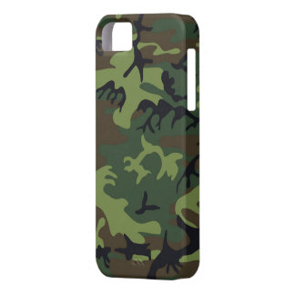 Green Camo iPhone 5S Shell w/ID,Credit Card Holder iPhone SE/5/5s Case