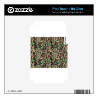 Green Camo iPod Touch 4G Skins