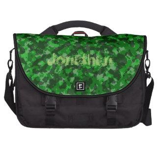 Green Camo Laptop Bag Template
