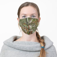 Green Camo Mossy Woods Cloth Face Mask