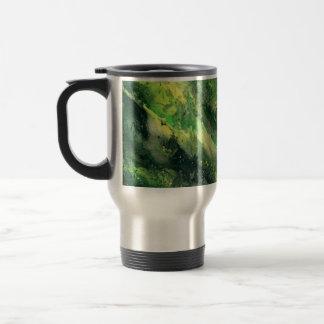 Green camo mug taza de viaje