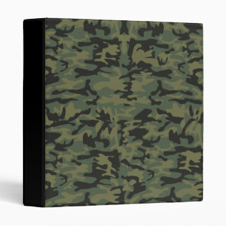 Green camo pattern binder