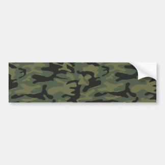 Green camo pattern bumper sticker