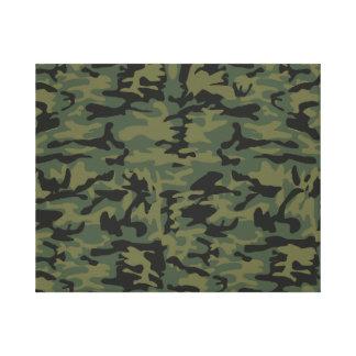Green camo pattern canvas print