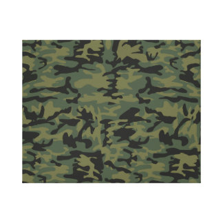 Green camo pattern canvas print